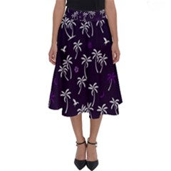 Tropical Pattern Perfect Length Midi Skirt