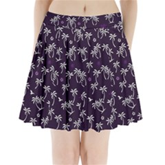 Tropical Pattern Pleated Mini Skirt