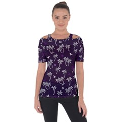 Tropical Pattern Short Sleeve Top