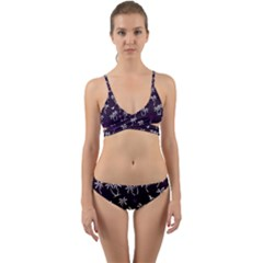 Tropical Pattern Wrap Around Bikini Set