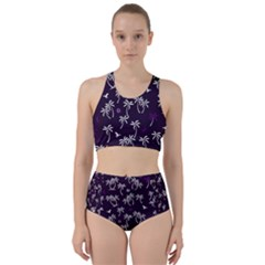 Tropical Pattern Racer Back Bikini Set