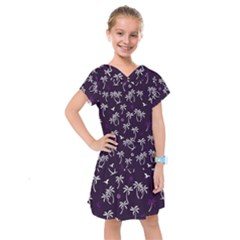 Tropical Pattern Kids  Drop Waist Dress