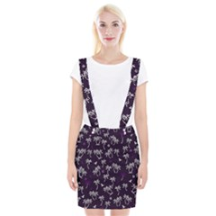Tropical Pattern Braces Suspender Skirt