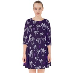 Tropical Pattern Smock Dress