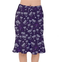 Tropical Pattern Mermaid Skirt