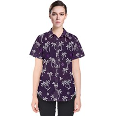 Tropical Pattern Women s Short Sleeve Shirt