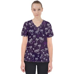 Tropical Pattern Scrub Top