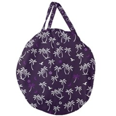 Tropical Pattern Giant Round Zipper Tote