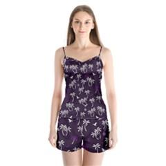 Tropical Pattern Satin Pajamas Set