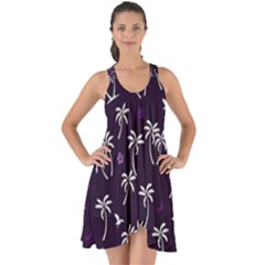 Tropical Pattern Show Some Back Chiffon Dress