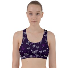 Tropical Pattern Back Weave Sports Bra