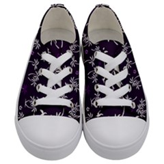Tropical Pattern Kids  Low Top Canvas Sneakers