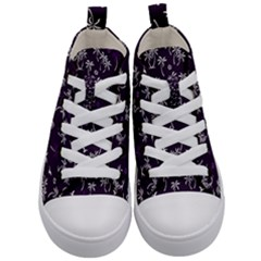 Tropical Pattern Kid s Mid Top Canvas Sneakers