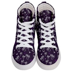 Tropical Pattern Women s Hi Top Skate Sneakers