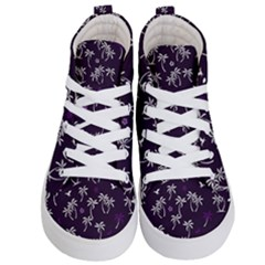 Tropical Pattern Kid s Hi Top Skate Sneakers