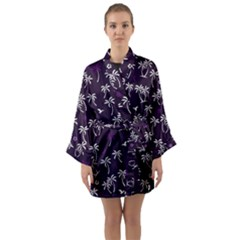 Tropical Pattern Long Sleeve Kimono Robe