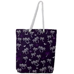 Tropical Pattern Full Print Rope Handle Tote (large)