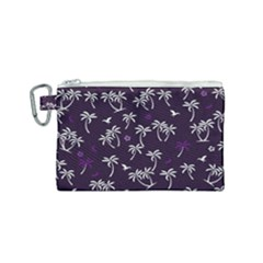 Tropical Pattern Canvas Cosmetic Bag (small)