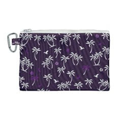 Tropical Pattern Canvas Cosmetic Bag (large)