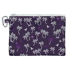 Tropical Pattern Canvas Cosmetic Bag (xl)
