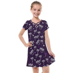 Tropical Pattern Kids  Cross Web Dress