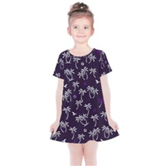 Tropical Pattern Kids  Simple Cotton Dress