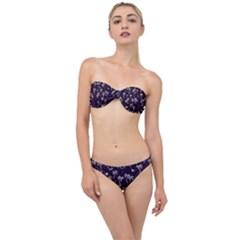 Tropical Pattern Classic Bandeau Bikini Set