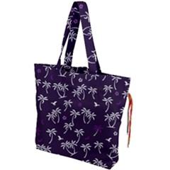 Tropical Pattern Drawstring Tote Bag