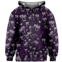 Tropical Pattern Kids Zipper Hoodie Without Drawstring
