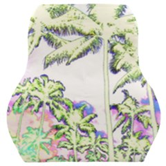 Palm Trees Tropical Beach Scenes Coastal Sketch Colored Neon Car Seat Back Cushion  by CrypticFragmentsColors