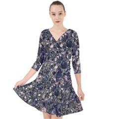 Granite 0154 Quarter Sleeve Front Wrap Dress