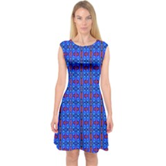 D 6 Capsleeve Midi Dress
