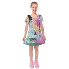 Abstract Butterfly By Flipstylez Designs Kids  Short Sleeve Velvet Dress