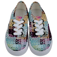 Abstract Butterfly By Flipstylez Designs Kids  Classic Low Top Sneakers