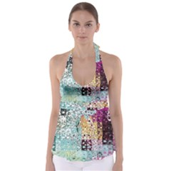 Abstract Butterfly By Flipstylez Designs Babydoll Tankini Top