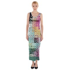 Abstract Butterfly By Flipstylez Designs Fitted Maxi Dress