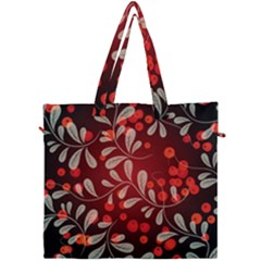 Beautiful Black And Red Florals  Canvas Travel Bag by flipstylezdes