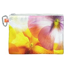 Big Colorful Tropical Yellow And Purple  Canvas Cosmetic Bag (xl)