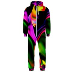 Colorful Smoke Explosion Hooded Jumpsuit (men)