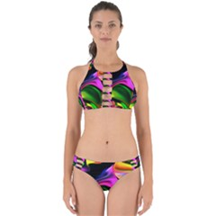 Colorful Smoke Explosion Perfectly Cut Out Bikini Set