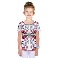 Creative Geometric Red And Black Design Kids  One Piece Tee