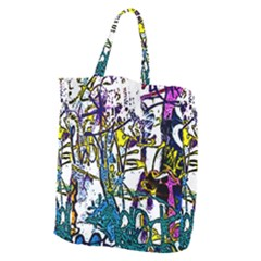 Graffiti Wall Cartoon Style Art Giant Grocery Tote