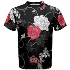 Elegant Pink Roses Men s Cotton Tee