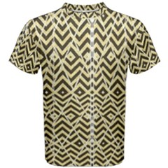 Stripes Glitter And Black Zigzags Men s Cotton Tee