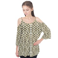 Stripes Glitter And Black Zigzags Flutter Tees