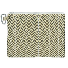 Stripes Glitter And Black Zigzags Canvas Cosmetic Bag (xxl) by flipstylezdes