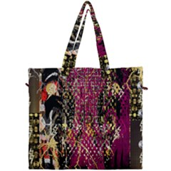 Multi Pattern Purple Gold Silver Lighting Icons Created By Kiekie Strickland  Canvas Travel Bag by flipstylezdes