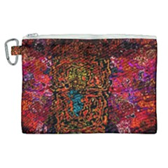 Exotic Water Colors Vibrant  Canvas Cosmetic Bag (xl)