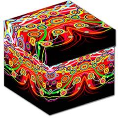 Colorful Artistic Retro Stringy Colorful Design Storage Stool 12