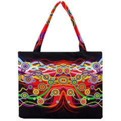Colorful Artistic Retro Stringy Colorful Design Mini Tote Bag by flipstylezdes